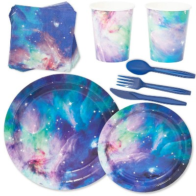 Serves 24 Cosmetic Galaxy Stars Universe Outer Space Party Supplies for Kids
