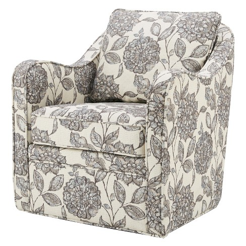 Terrific Floral Swivel Accent Chair Camellatalisay Diy Chair Ideas Camellatalisaycom