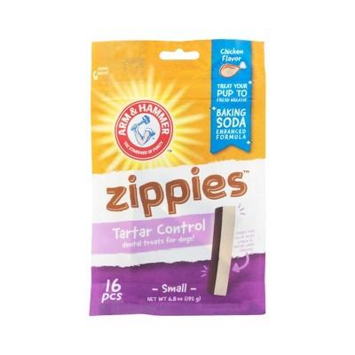 Arm & Hammer Zippies Chicken Flavor Small Chicken Dental Dog Treats - 16ct