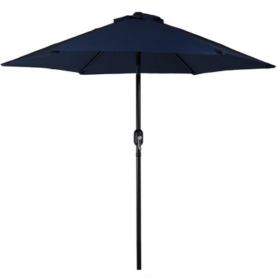 Aluminum Tilt Patio Umbrella 7.5' - Blue - Sunnydaze Decor