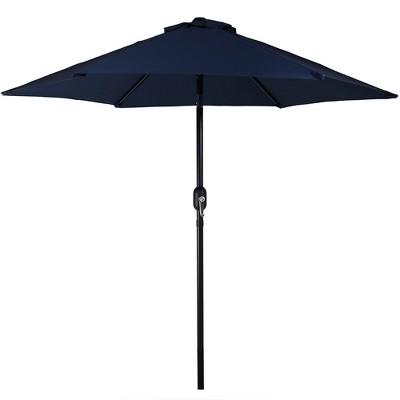Aluminum Tilt Patio Umbrella 7.5u0027   Blue   Sunnydaze Decor