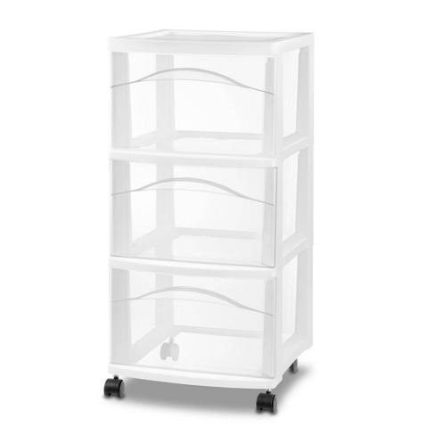 3 Drawer Medium Cart White - Room Essentials™ - image 1 of 2