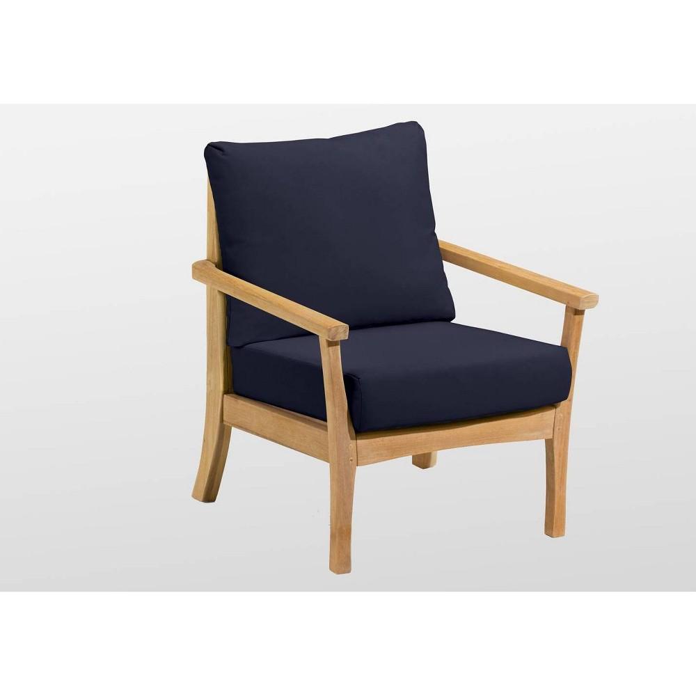 Mera Patio Club Chair - Blue - Oxford Garden, Admiral Blue
