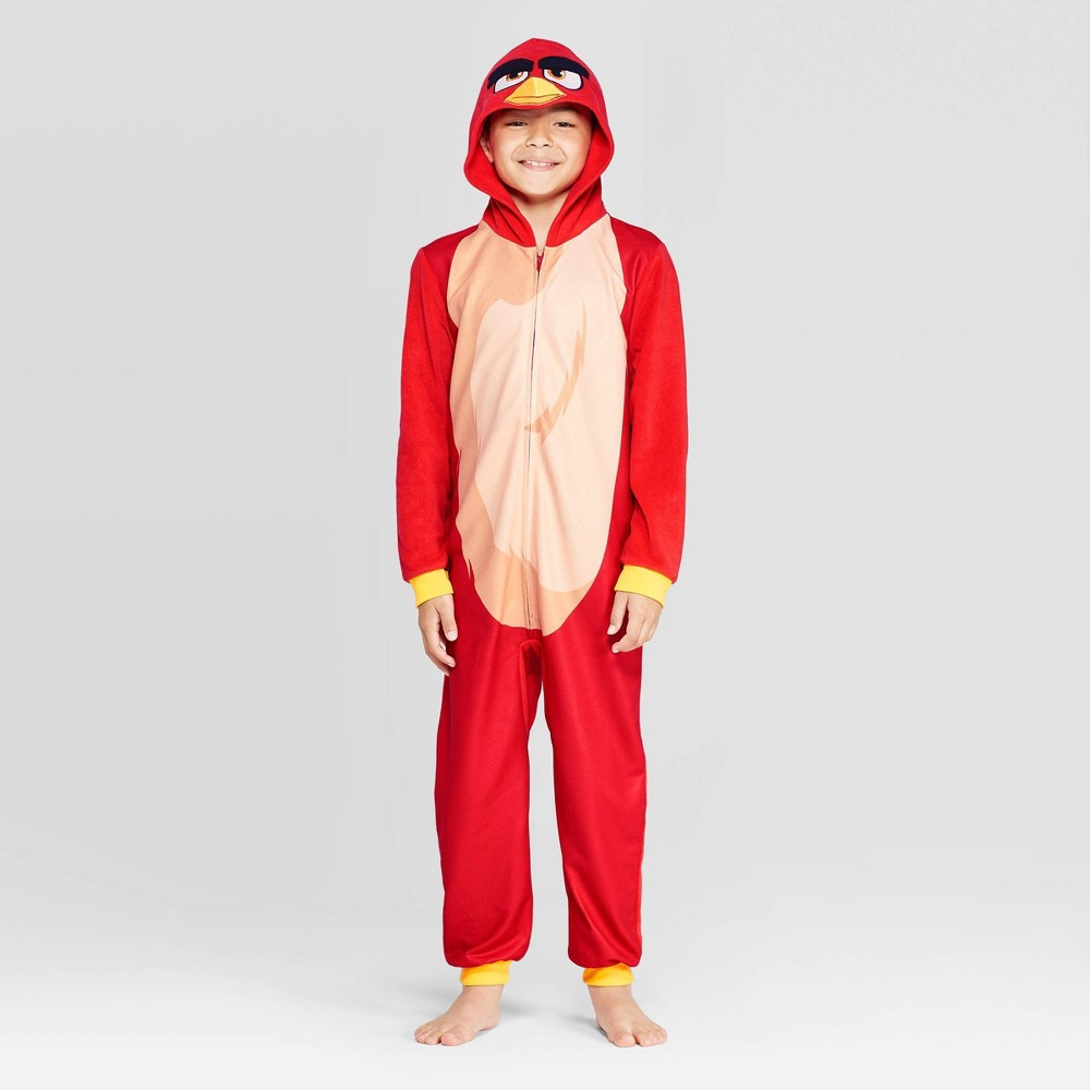 Image of Boys' Angry Birds Union Suit - Red L, Boy's, Size: Large