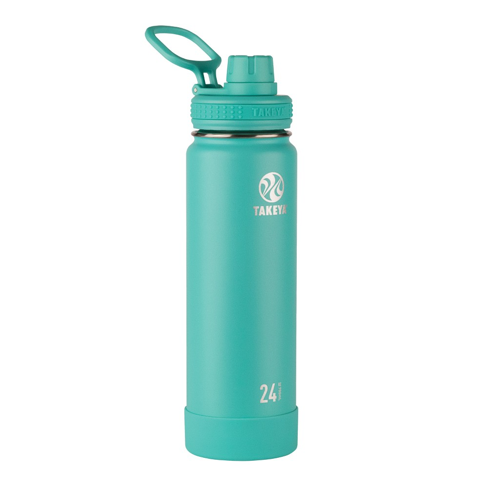 Takeya Actives 24oz Insulated Stainless Steel Bottle with Insulated Spout Lid - Teal (Blue)