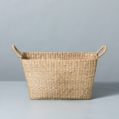 X-Large Woven Seagrass Basket with Handles - Hearth & Hand™ with Magnolia