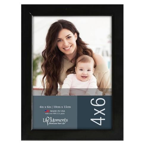 """Black Wood Frame Set (4""""X6"""") Set of 6 - image 1 of 4"""