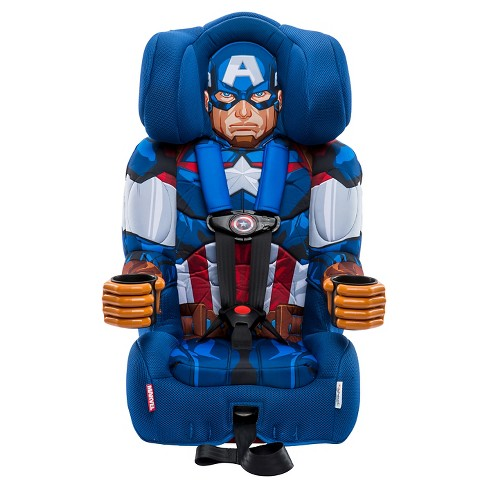 KidsEmbrace Marvel Avengers Captain America Combination Harness Booster Car Seat - image 1 of 4