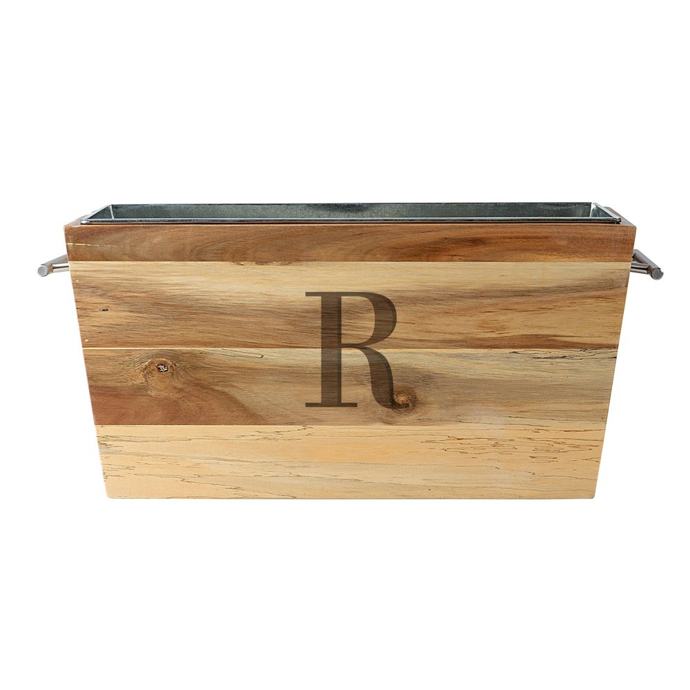 3gal Monogram Ice Bucket R - Cathy's Concepts, Brown