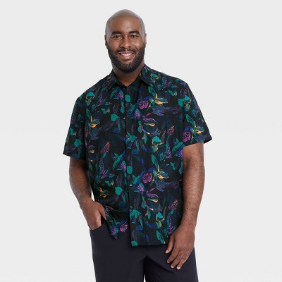 Men's Adventure Button-Up T-Shirt - All in Motion™