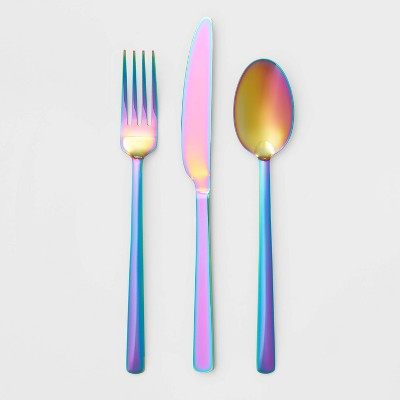 12pc Stainless Steel Annika Rainbow  Silverware Set - Room Essentials™
