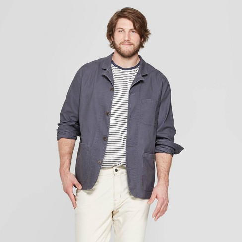 Men's Big & Tall Casual Fit Lightweight Chore Jacket - Goodfellow & Co™ Gray - image 1 of 3