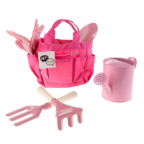Hey! Play! Kid's Safe Mini Gardening Kit with Watering Can and Canvas Tote - image 1 of 5