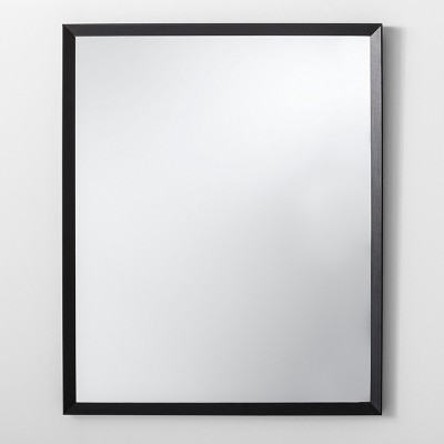 Bevel Decorative Wall Mirror Black 27 x 33  - Made By Design™