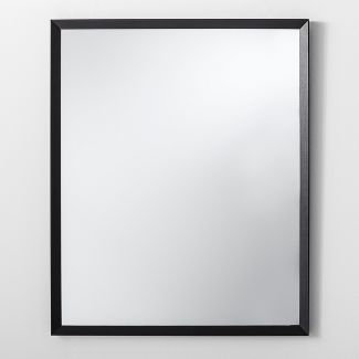 """Bevel Profile Wall Mirror Black 27"""" x 33"""" - Made By Design™"""