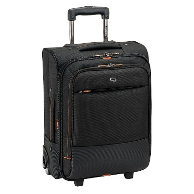 "Solo Urban 17.5"" Rolling Overnighter Carry On Suitcase - Black"