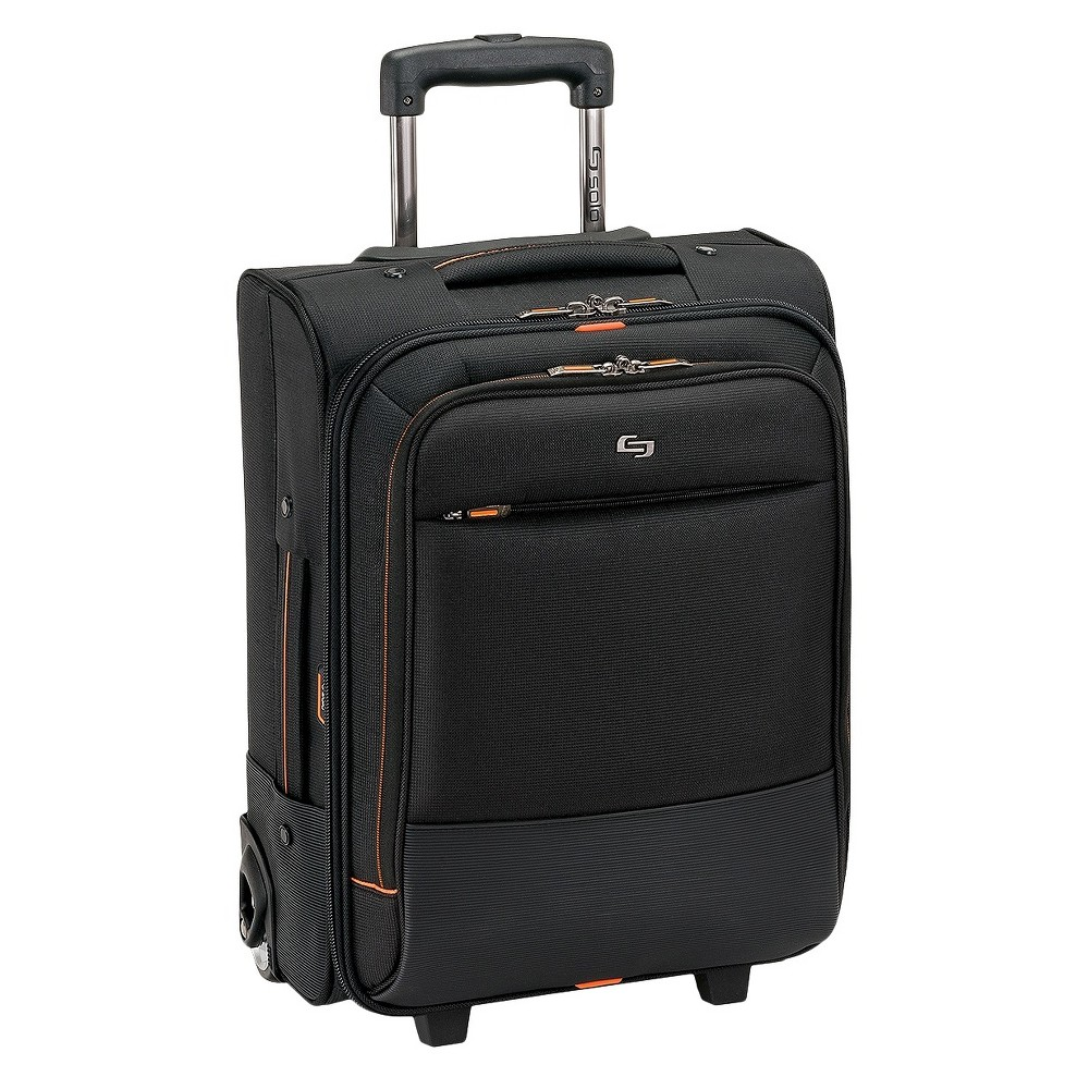"Image of ""Solo Urban 17.5"""" Rolling Overnighter Carry On Suitcase - Black"""