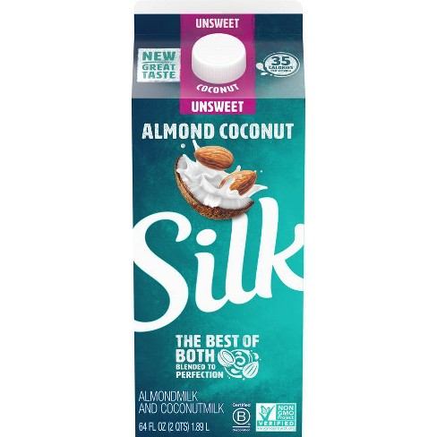 Silk AlmondMilk with CoconutMilk Unsweetened Blend - 0.5gal - image 1 of 2