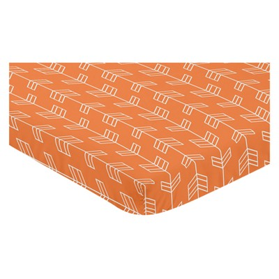Sweet Jojo Designs Mini Fitted Sheet - Arrow