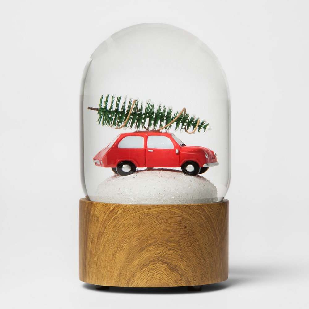 Water Globe Car with Tree - Threshold, Multi-Colored