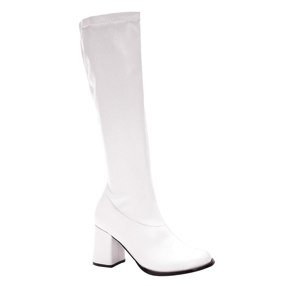 Image of Halloween Adult Gogo Boots White Costume Size 9, Women's