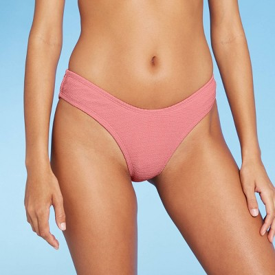 Women's Scoop Textured Bikini Bottom - Sea Angel Light Pink