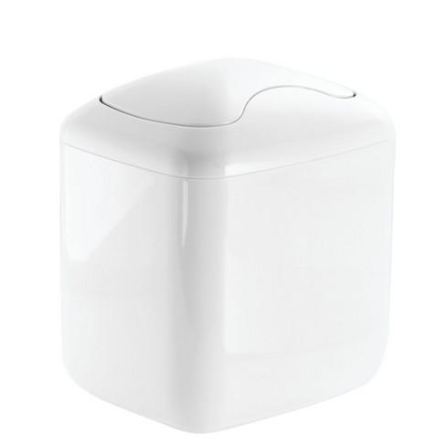 Mdesign Mini Trash Can With Swing Lid, Bathroom Trash Can With Swing Lid