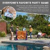 ECR4Kids Jumbo Four-To-Score Giant Game-Indoor/Outdoor 4-In-A-Row Connect - Orange and Purple - image 3 of 4