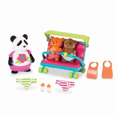 Li'l Woodzeez Miniature Playset with Animal Figurines 13pc - Babysitter Set
