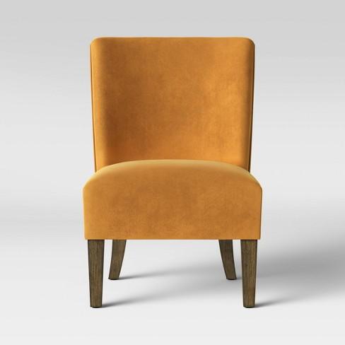 Dracut Slipper Velvet Chair Gold - Threshold™ - image 1 of 4