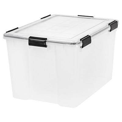 IRIS 4pk 74qt Weathertight Plastic Storage Bin