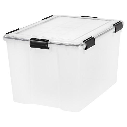 IRIS 4pk 74qt Weathertight Plastic Storage Bin - image 1 of 4