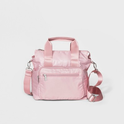 Mad Love Parachute Satchel Handbag - Blush