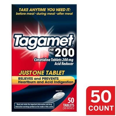 Tagamet HB 200 Acid Reducer Heartburn Relief Tablets – 50ct
