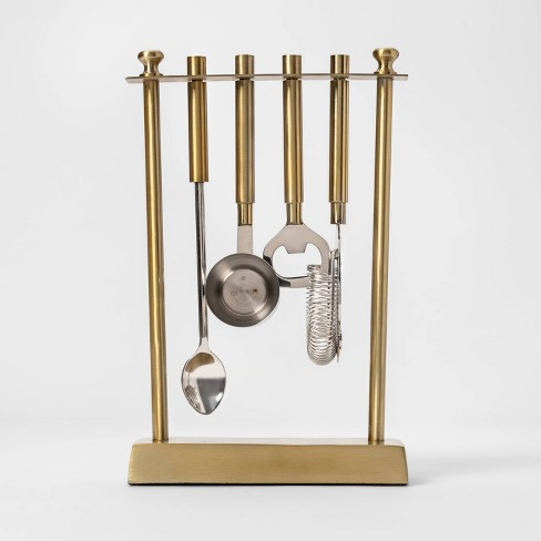 5pc Bar Tool Set With Stand Gold - Project 62™ - image 1 of 2