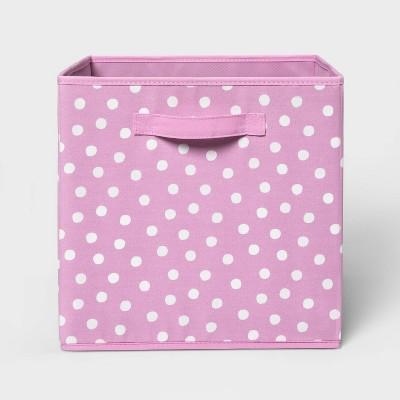 "13"" Fabric Dot Storage Bin - Pillowfort™"