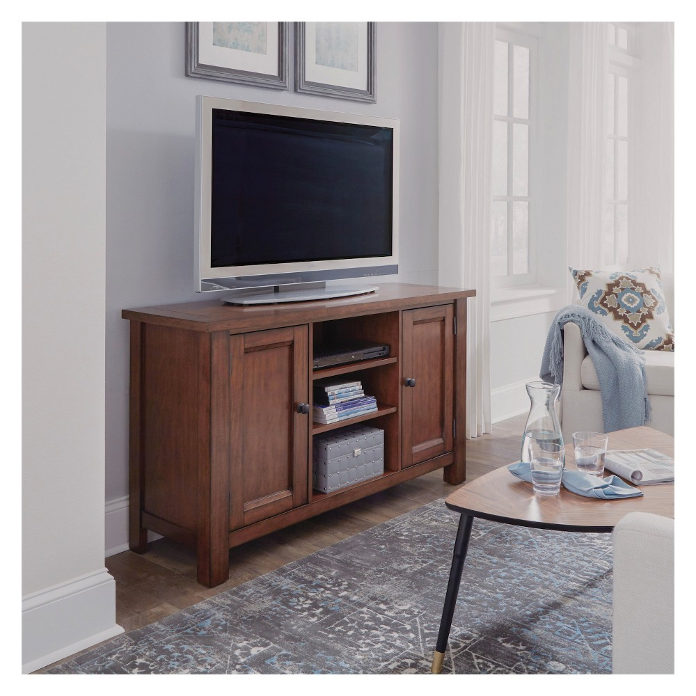 Tahoe Entertainment Credenza - Aged Maple (Brown) - Home Styles