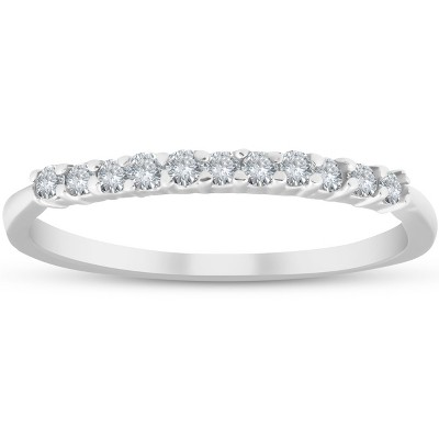 Pompeii3 1/4ct 14K White Gold Diamond Wedding Stacker Guard Ring