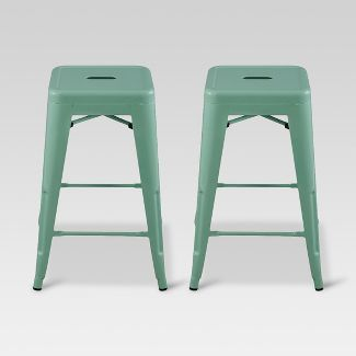 Phenomenal Set Of 2 Killiam Mixed Material Sled Counter Stool White Pdpeps Interior Chair Design Pdpepsorg