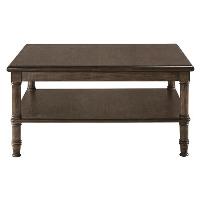 Seneca Coffee Table Four Baskets Included Wood Walnut/Natural Seagrass    Hillsdale Furniture
