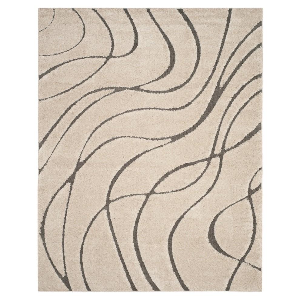 Cream/Gray (Ivory/Gray) Swirl Loomed Area Rug 8'6X12' - Safavieh