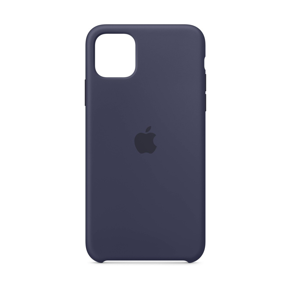 Apple iPhone 11 Pro Max Silicone Case - Midnight Blue, Black Blue