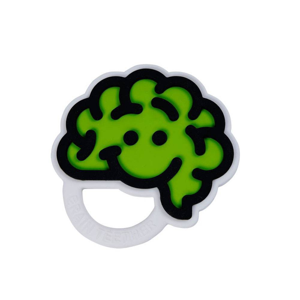 Image of Fat Brain Toys Brain Teether - Green