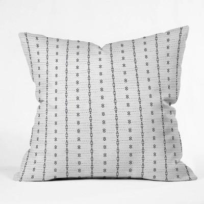 "20""x20"" Holli Zollinger French Geometric Striped Throw Pillow White - Deny Designs"