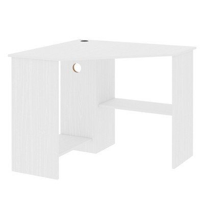 HomCom Multi-Tier Corner Computer Desk  with Multiple Shelves