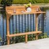 Rectangle Caribbean Acacia Wood Balcony Bar Table - Christopher Knight Home - image 2 of 4