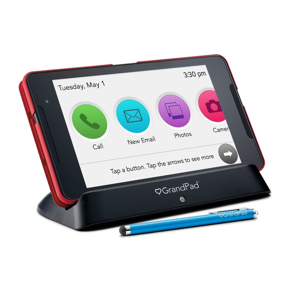Consumer Cellular Postpaid GrandPad (32GB) - Black with Red Case