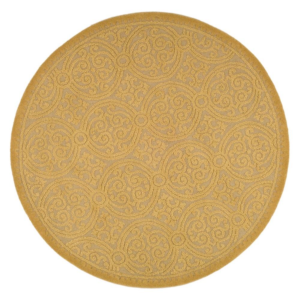 6' Medallion Round Area Rug Gold - Safavieh