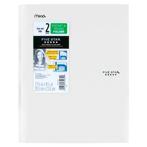 Five Star 2 Pocket Plastic Folder with Prongs  - image 1 of 3