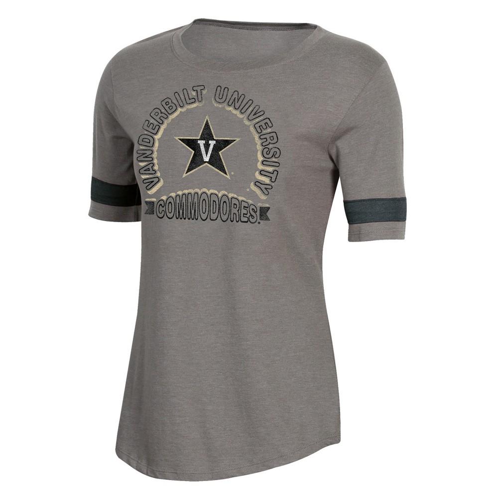 NCAA Women's Short Sleeve Scoop Neck T-Shirt Vanderbilt Commodores - XL, Multicolored